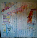 84x84 in. Paper, tape, paint, colored pencil. 2010