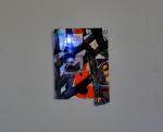 8.5 x 11 in. paper, paint, gold-leaf, LED mini-light. 2010