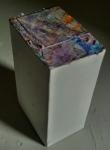 5.5x4x9 in. Paper, cardboard box, paint. 2010