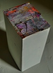 5.5x4x9 in. Paper, cardboard box, paint. 2010