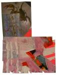Oil Paint, Latex Paint, Glass, Colored Pencil, Tempera Paint on Paper. 2011