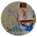 Bleak AM. 12in diameter. Paper, Paint, Plastic, Graphite, Tape. 2011