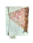 Composition 4. 2012. Paint, Vinyl Banner, Handmade Paper, Plastic, Marker. 27 x 21x2